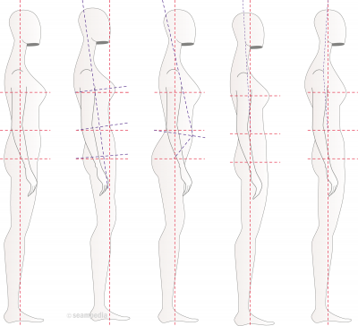 Posición anatómica en patronaje o en el patron Anatomic position