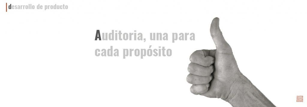 Auditoria, una para cada propósito