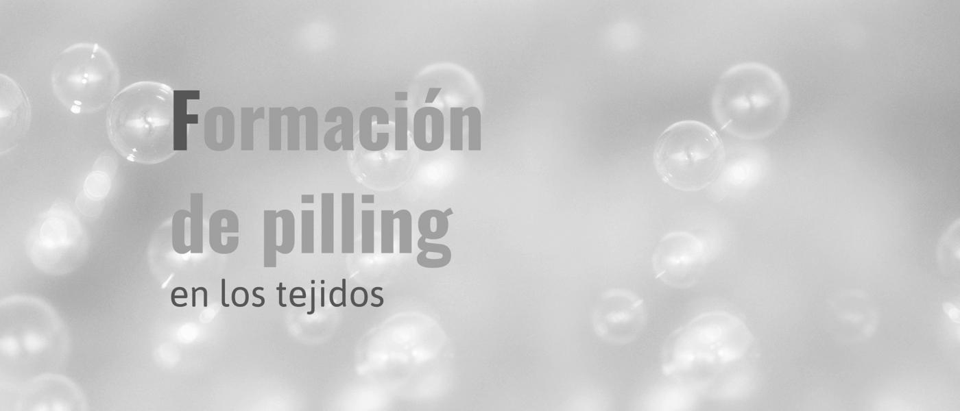 Formación de pilling en los tejidos