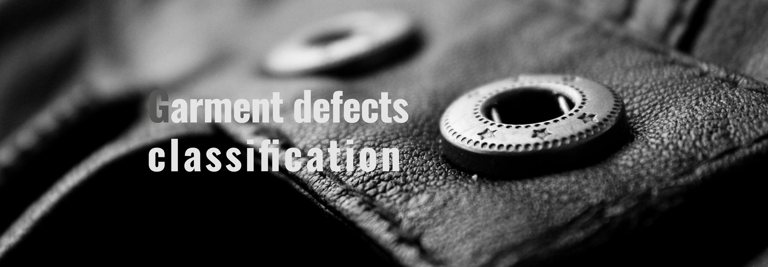 Garment defects classification