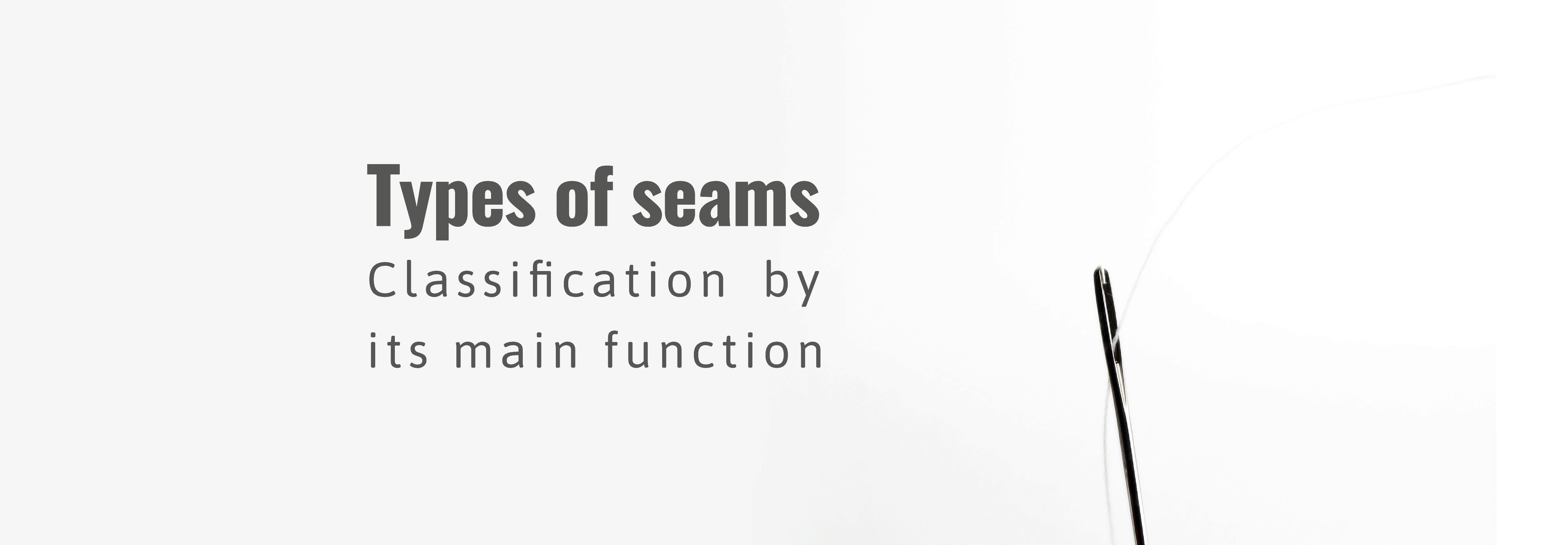Seam classification as per stitch type