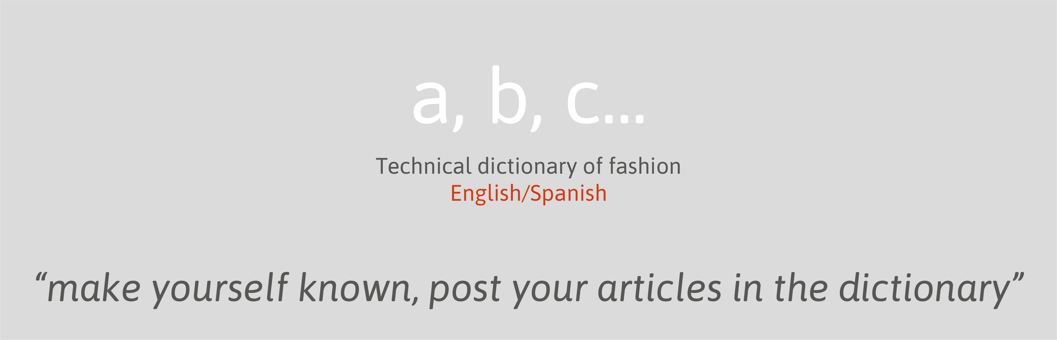 technical dictionary of fashion