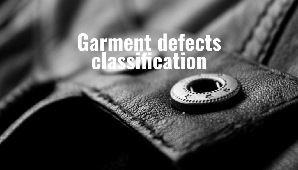 Garment defects classification