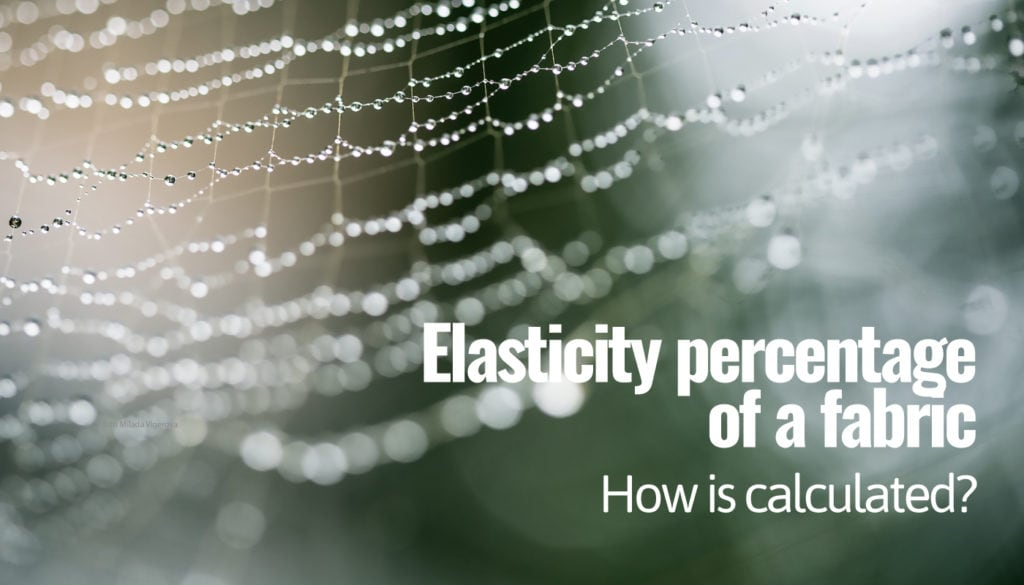 Elasticity percentage of a fabric