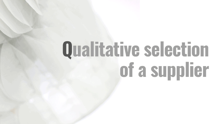 Qualitative selection of a supplier