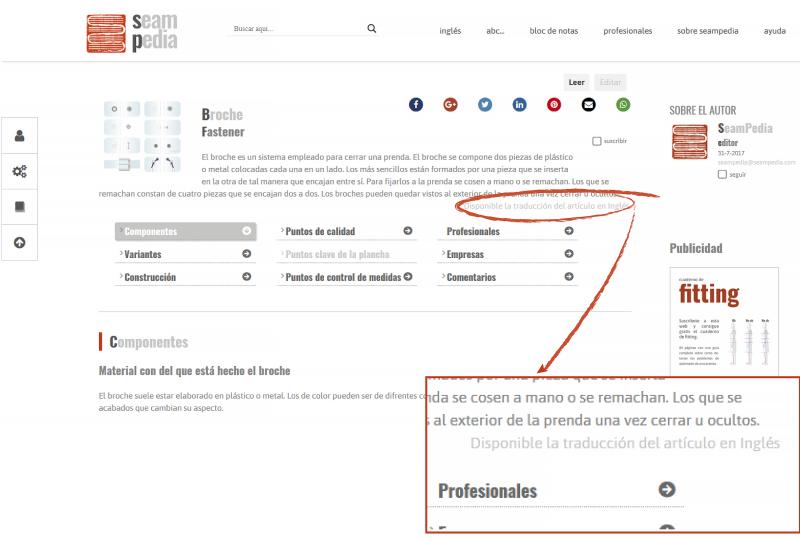 como traducir un articulo primero abrir el editor de articulo
