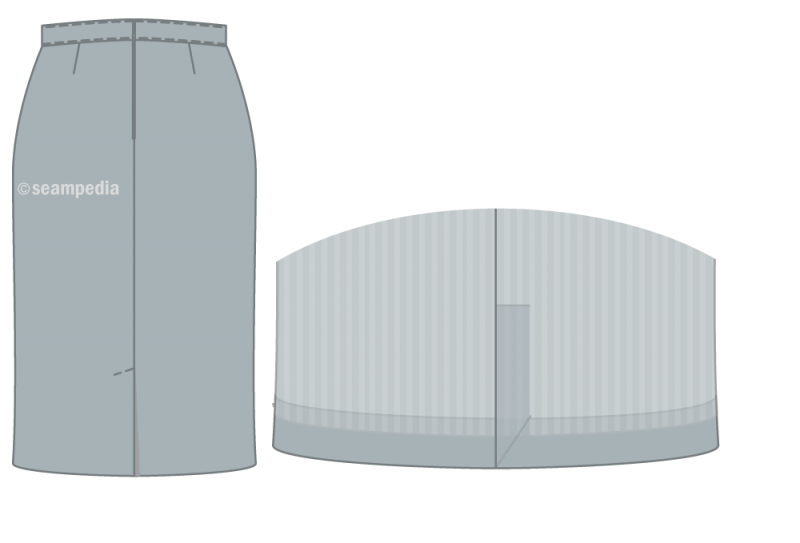 abertura espalda Abertura en tacón Hanger vent Falda Skirt
