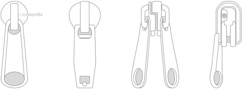 cursor de la cremallera zipper slider