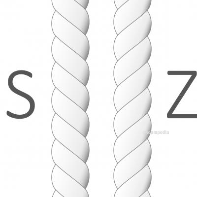 torsion hilo en la confección twist thread