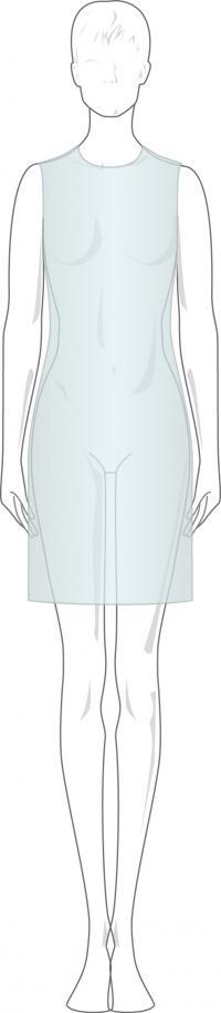 prenda semi ajustada un concepto del vestir