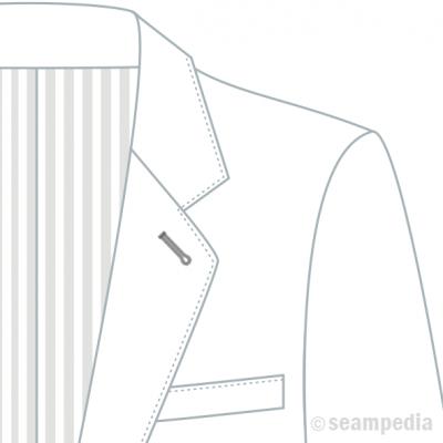 americana solapa puntet pick stitch AMF suit jacket