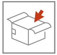 aprobación del empaquetado o packing de la prenda de producción