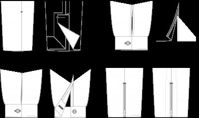 Abertura manga puño Sleeve opening cuff