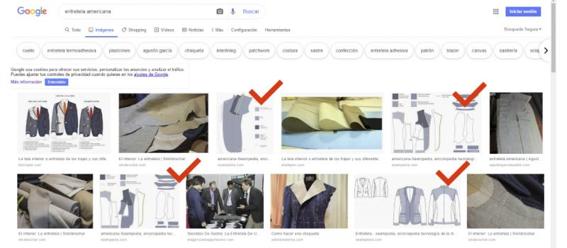 Listado de empresas proveedoras para la industria de la moda. Busqueda en google