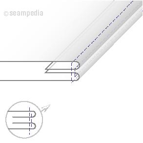 Costura vuelta o tumbada con pespunte al canto de carga Seam turned with a topstitch V2 01