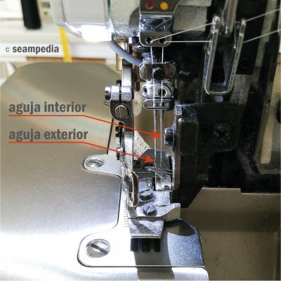 Maquina de overlock de cuatro hilos Imagen de las agujas