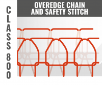 OVEREDGE CHAIN AND SAFETY STITCH CLASS 800