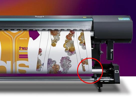 Recogida del papel en Impresión digital téxtil