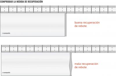 Porcentaje de elasticidad del tejido rebote del tejido