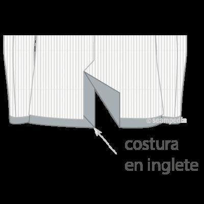 costura en inglete