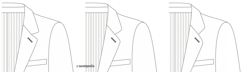cuello solapa notch lapel angulo entradilla angle