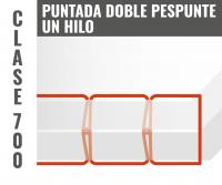 puntada de doble pespunte en un hilo clase 700