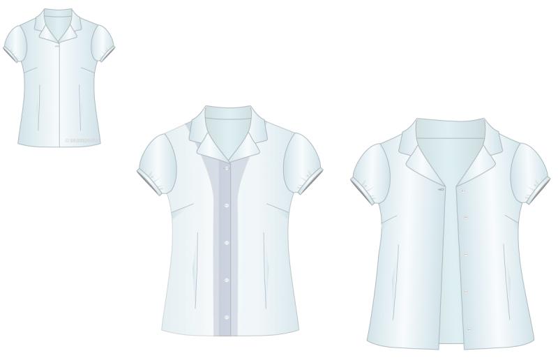 cierre sencillo con sopata en camisa