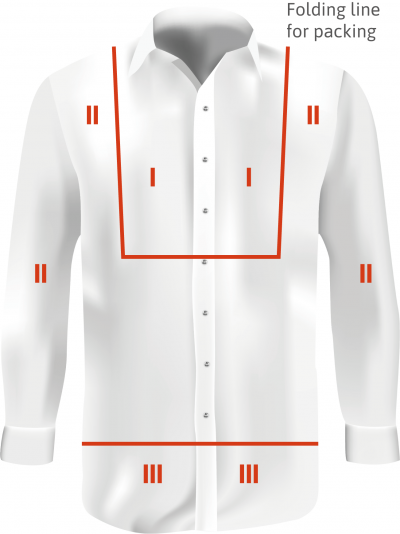 visible areas of the shirt for the AQL